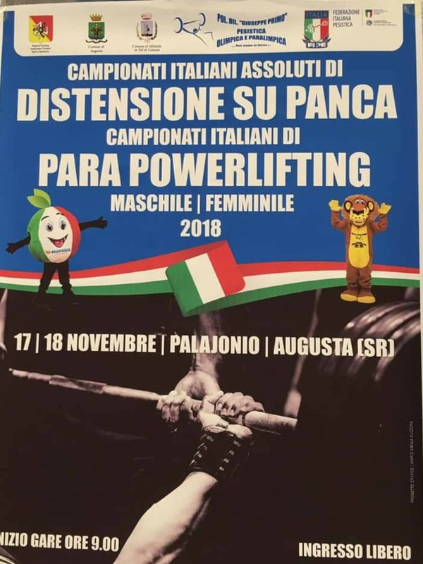 Para Powerlifting (Pesistica Paralimpica) ad Augusta Siracusa