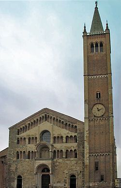 Bell Tower of the Cathedral of Parma Emilia Romagna
