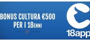 Bonus cultura da 500 euro per i diciottenni nel 2018