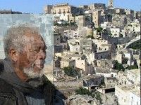 L'attore Freeman a Matera