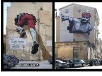 Murales lega Sapri a Malta